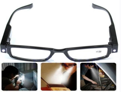 LED Brille Lesebrille mit LED Beleuchtung 2.17 Euro incl Versand